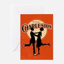 Vintage Charleston Music Art Greeting Card