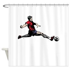 Soccer Kick Shower Curtain