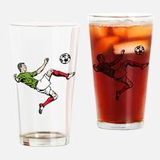 Soccer Player Kick Drinking Glass