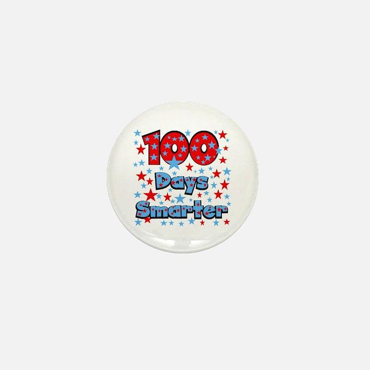 100 Days Smarter Mini Button
