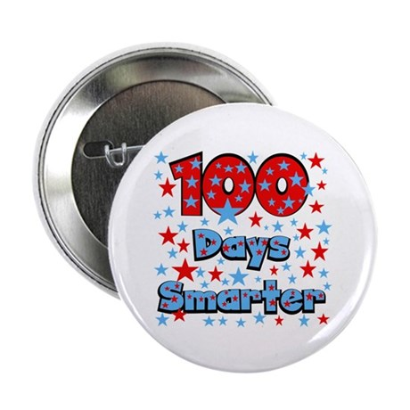 """100 Days Smarter 2.25"""" Button (100 pack)"""