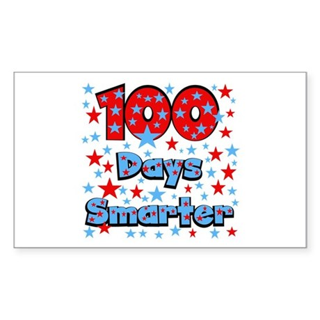 100 Days Smarter Sticker (Rectangle)