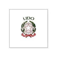 Lido, Italy Rectangle Sticker