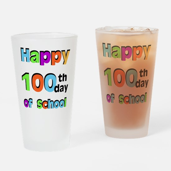 Happy 100th Day of School Drinking Glass