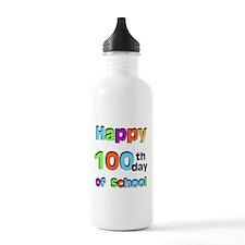 Happy 100th Day of School Water Bottle