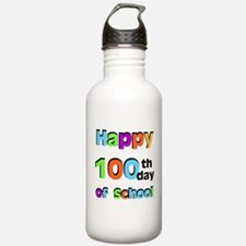 Happy 100th Day of School Water Bottle