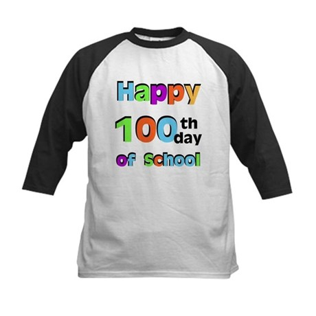 Happy 100th Day of School Kids Baseball Jersey