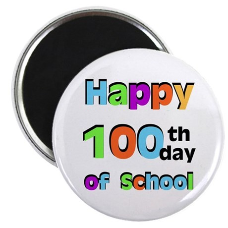 """Happy 100th Day of School 2.25"""" Magnet (100 pack)"""