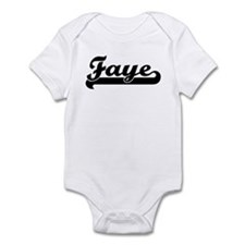 Black jersey: Faye Infant Bodysuit