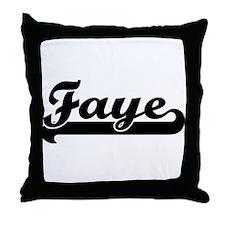 Black jersey: Faye Throw Pillow