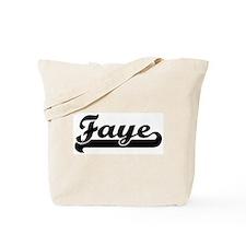 Black jersey: Faye Tote Bag