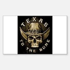 Texas to the bone Sticker (Rectangle)
