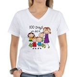 100th day Womens V-Neck T-shirts