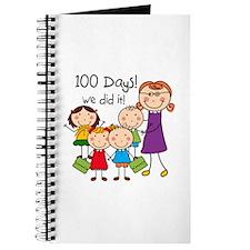 Kids and Female Teacher 100 Days Journal