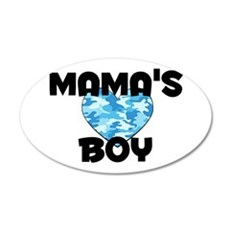 Mamas Boy 35x21 Oval Wall Decal