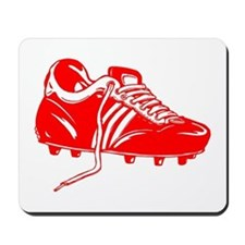Red Soccer Cleat Mousepad