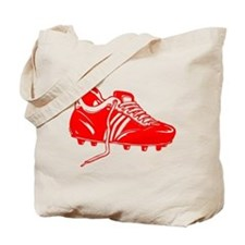 Red Soccer Cleat Tote Bag