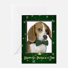 Beagle St. Patrick's Card
