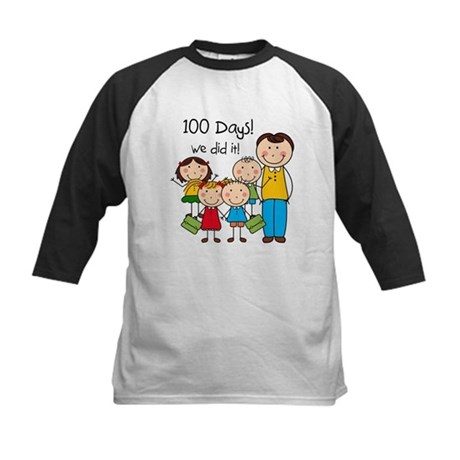 Kids and Male Teacher 100 Days Kids Baseball Jerse
