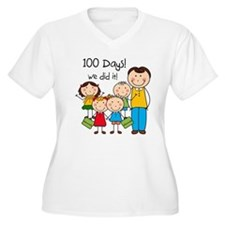 Kids and Male Teacher 100 Days T-Shirt