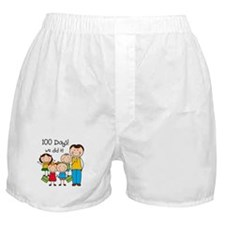 Kids and Male Teacher 100 Days Boxer Shorts