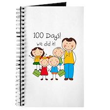 Kids and Male Teacher 100 Days Journal