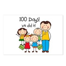 Kids and Male Teacher 100 Days Postcards (Package