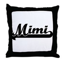 Black jersey: Mimi Throw Pillow