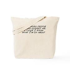 Unique People know me Tote Bag