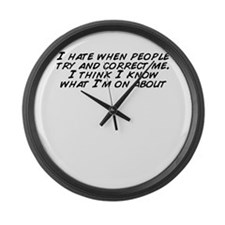 Cute People know me Large Wall Clock