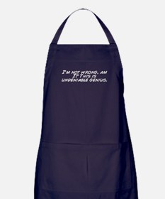Cute I am never wrong Apron (dark)