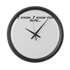 Cool For sure Large Wall Clock