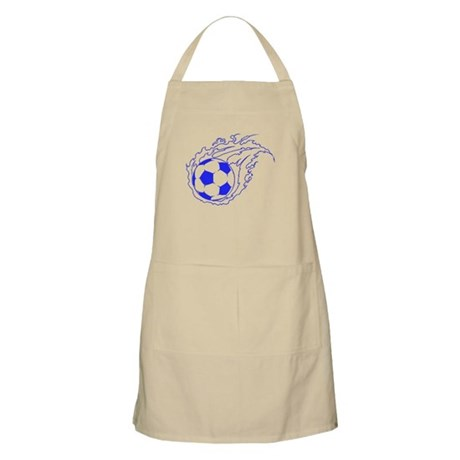 Blue Soccer Flame Ball Apron