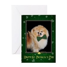 Pomeranian St. Patricks Card