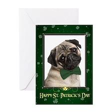 Pug St. Patricks Card
