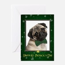 Pug St. Patricks Card