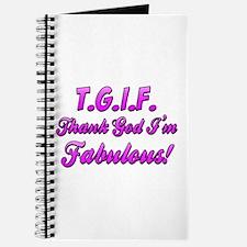 Thank God I'm Fabulous Journal