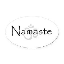 Namaste Oval Car Magnet