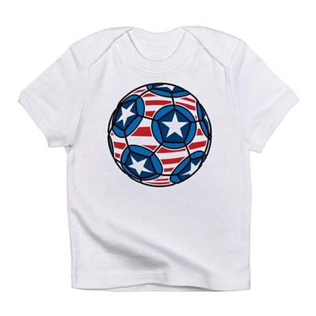 Red White And Blue Soccer Ball Infant T-Shirt