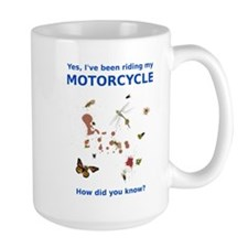 Bugs On Shirt Motorcycle Funny T-Shirt Mug