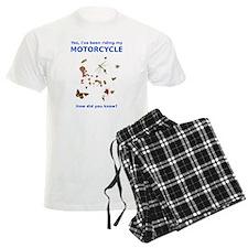 Bugs On Shirt Motorcycle Funny T-Shirt Pajamas