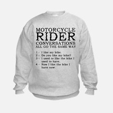 Motorcycle Rider Conversations Funny T-Shirt Sweatshirt