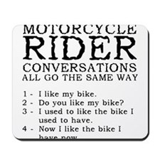 Motorcycle Rider Conversations Funny T-Shirt Mouse