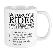 Motorcycle Rider Conversations Funny T-Shirt Mug