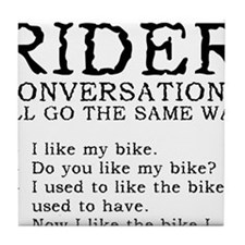 Motorcycle Rider Conversations Funny T-Shirt Tile