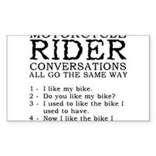 Motorcycle Rider Conversations Funny T-Shirt Stick