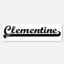 Black jersey: Clementine Bumper Bumper Bumper Sticker