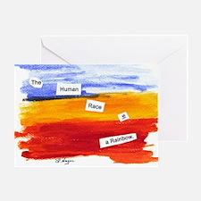 Human Race Is A Rainbow Greeting Card