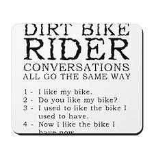 Dirt Bike Rider Conversations Funny T-Shirt Mousep