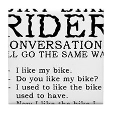 Dirt Bike Rider Conversations Funny T-Shirt Tile C